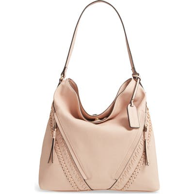 Sole Society Destin 2 Faux Leather Hobo Bag - Pink