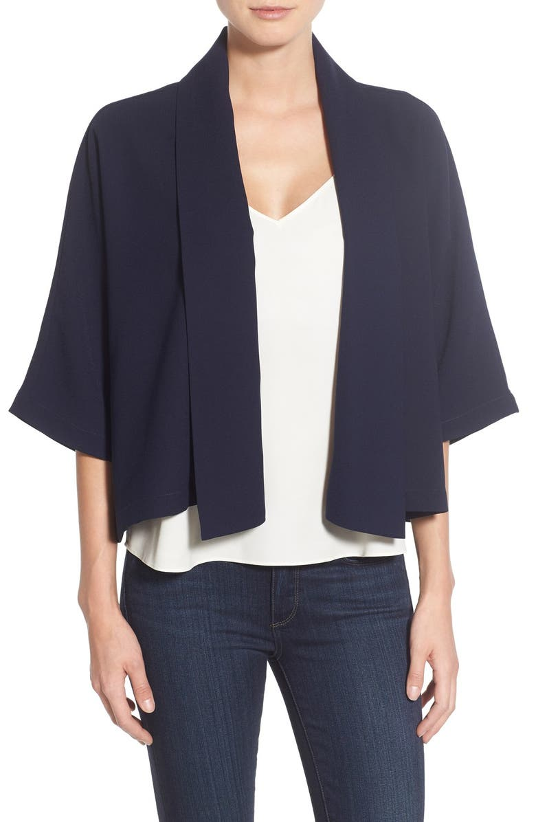 CUPCAKES AND CASHMERE 'Marshall' Crop Jacket, Main, color, 001