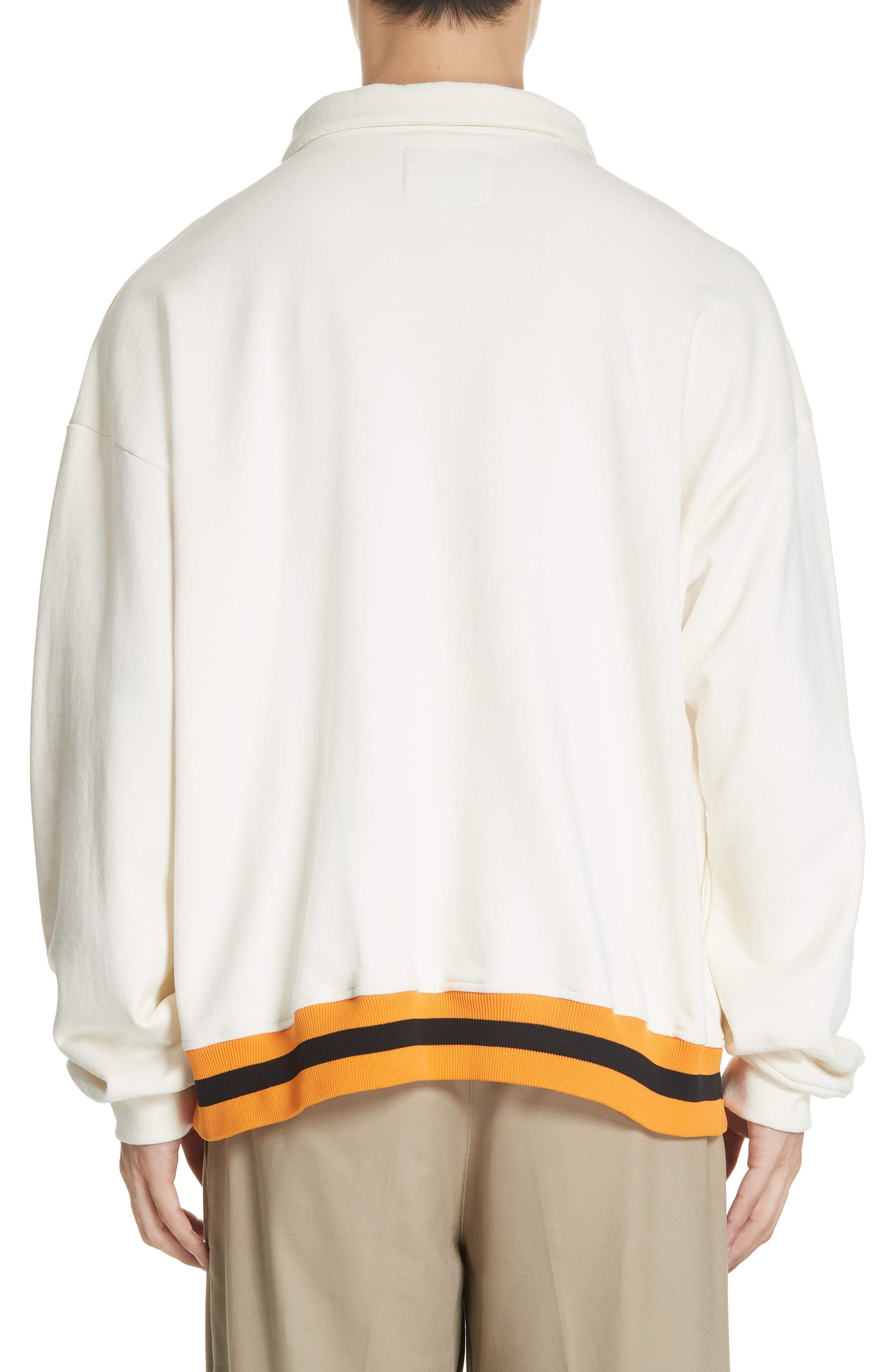 ,                             Study Sweatshirt Polo,                             Alternate thumbnail 2, color,                             CREAM