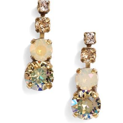 Sorrelli Descending Round Crystal Linear Earrings