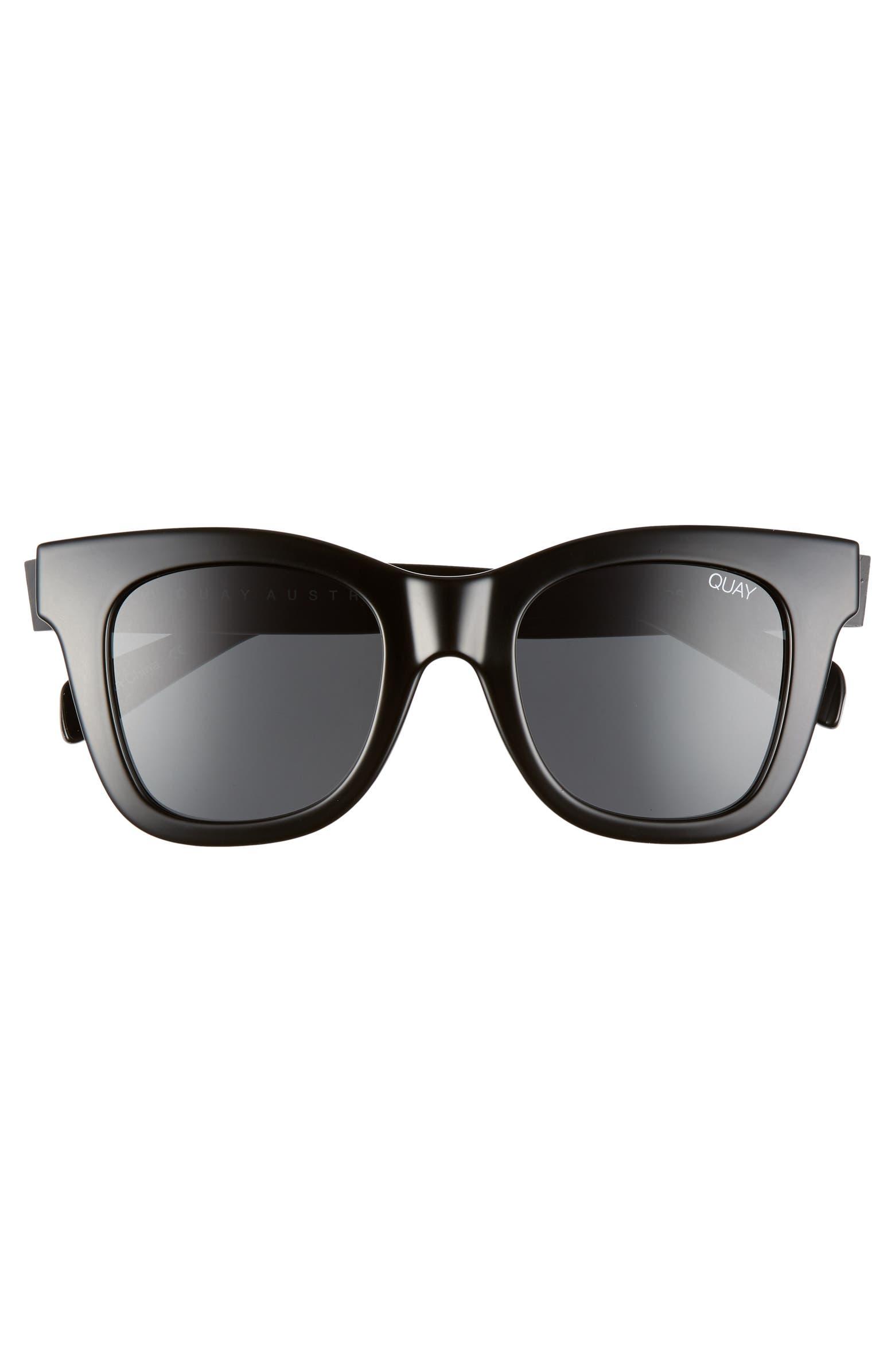 x Chrissy Teigen After Hours 45mm Polarized Square Sunglasses QUAY AUSTRALIA