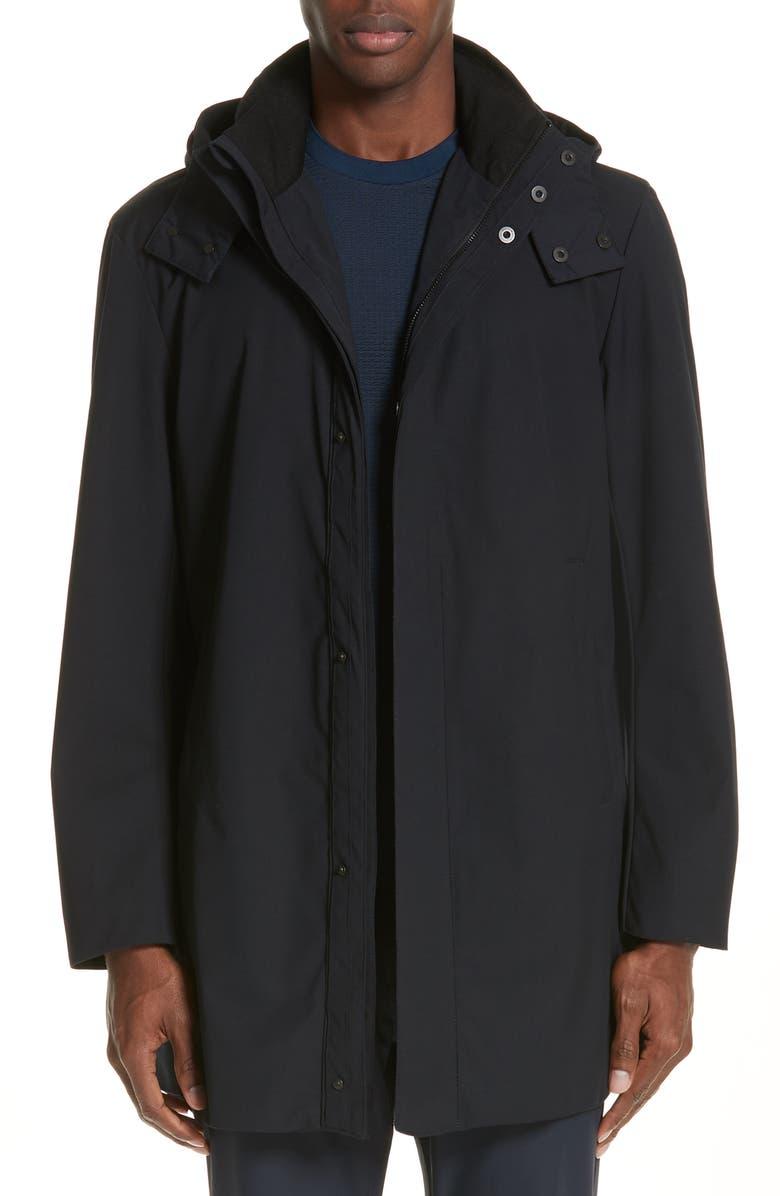EMPORIO ARMANI Hooded Raincoat, Main, color, 424