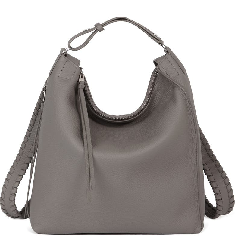ALLSAINTS Small Kita Convertible Leather Backpack, Main, color, STORM GREY