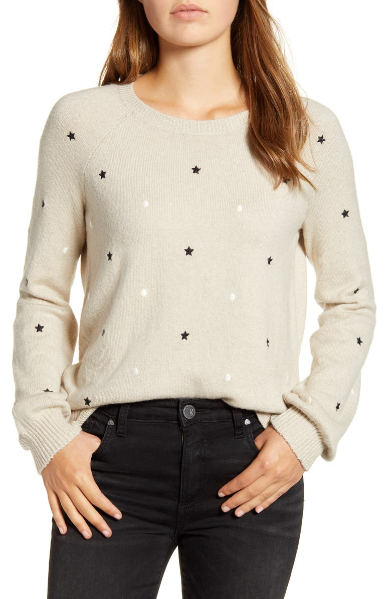 Embroidered Stars & Dots Pullover by Lucky Brand
