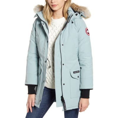Canada Goose Trillium Fusion Fit Hooded Parka With Genuine Coyote Fur Trim, (10-12) - Blue