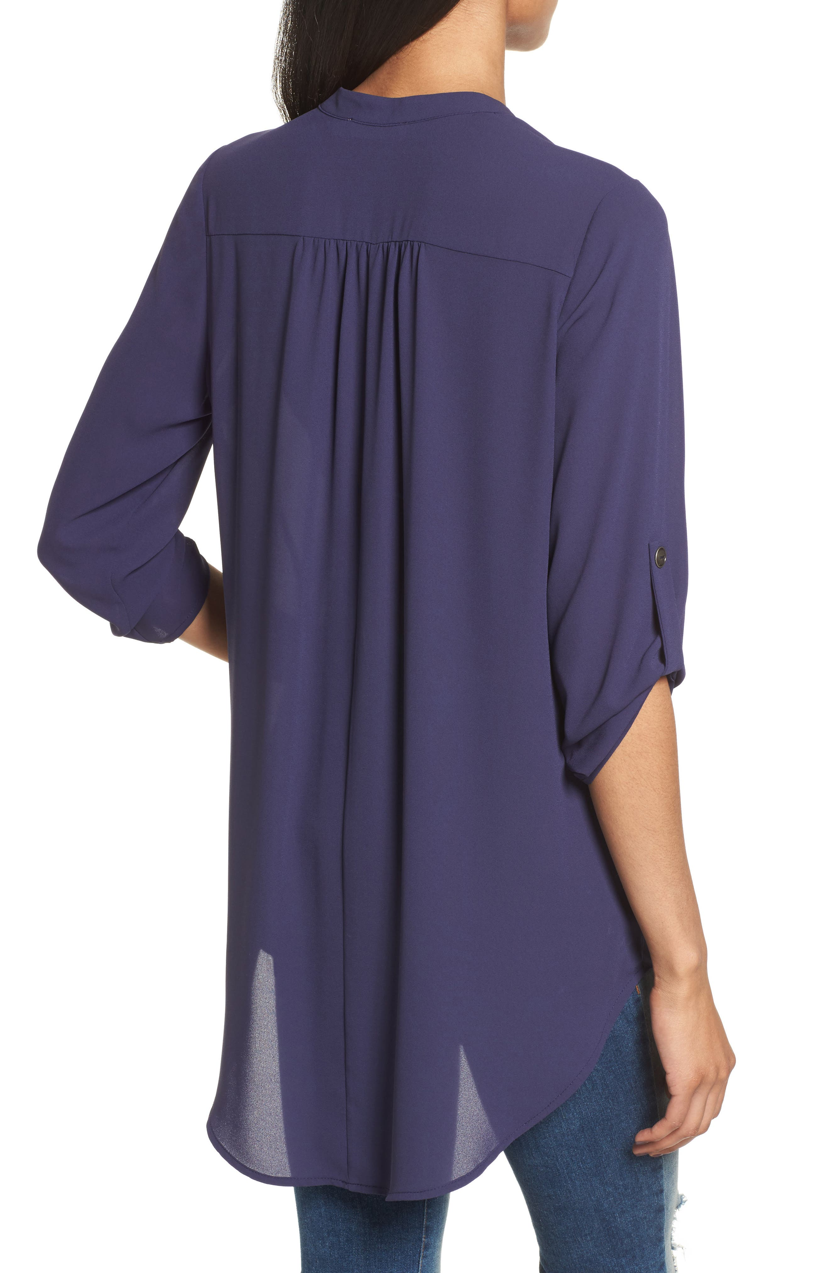 ,                             Perfect Roll Tab Sleeve Tunic,                             Alternate thumbnail 274, color,                             407