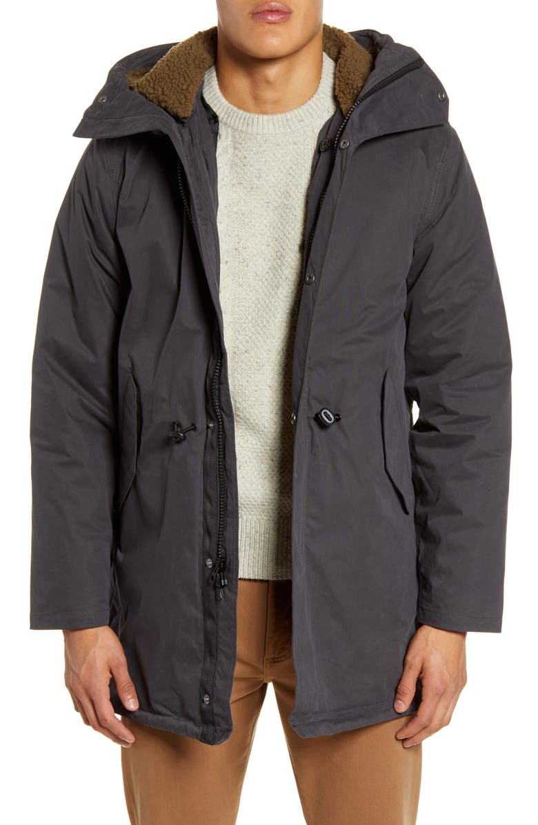 MADEWELL Bedford Convertible 3-in-1 Parka, Main, color, BLACK COAL