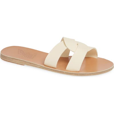 Ancient Greek Sandals Desmos Slide Sandal, White