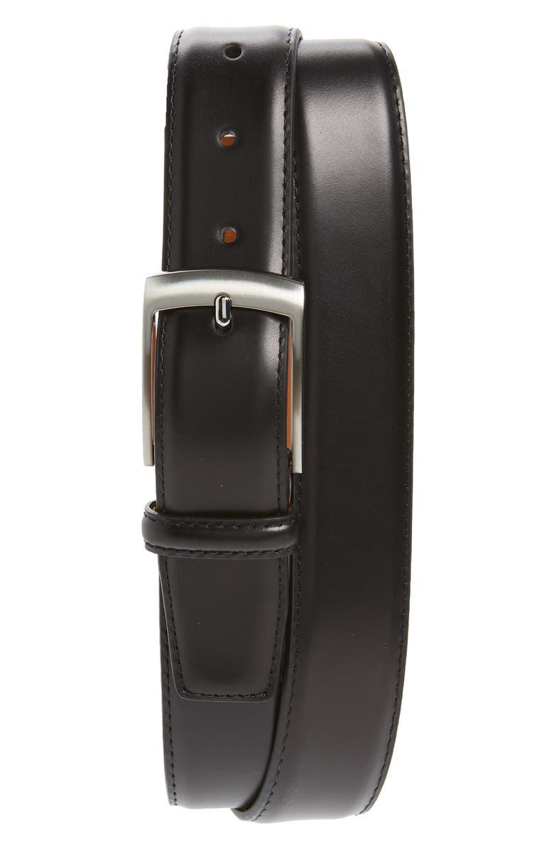 MAGNANNI Rafael Leather Belt, Main, color, 001