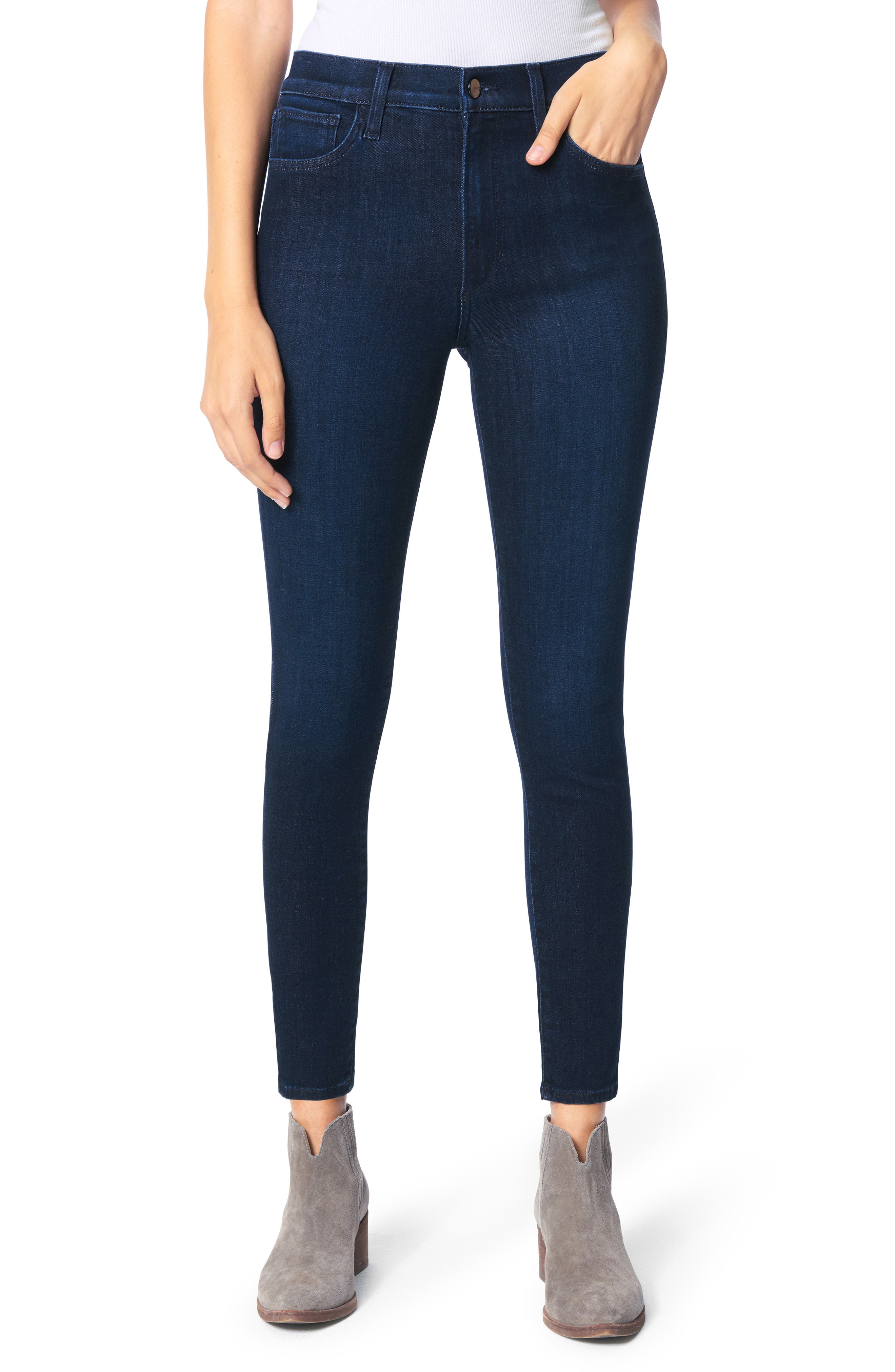 The Charlie High Waist Ankle Skinny Jeans