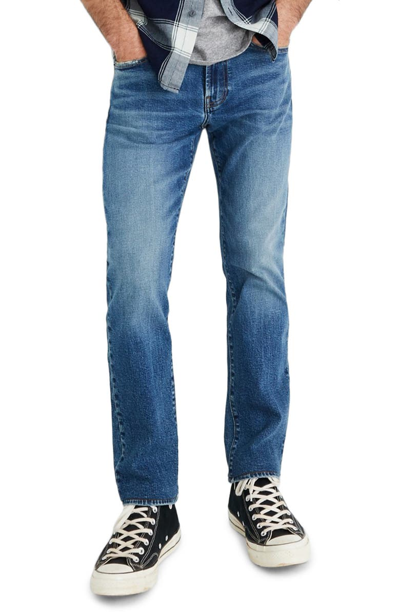 MADEWELL Slim Authentic Flex Jeans, Main, color, EDMORE