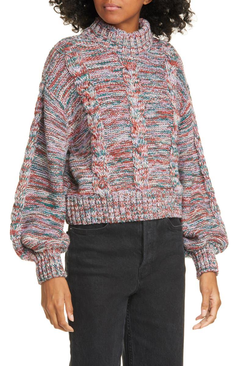 STINE GOYA Gio Alpaca & Wool Blend Sweater, Main, color, 1719 AUTUMN