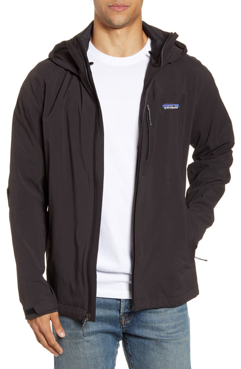PATAGONIA Quandary Waterproof Hooded Jacket, Main, color, BLACK