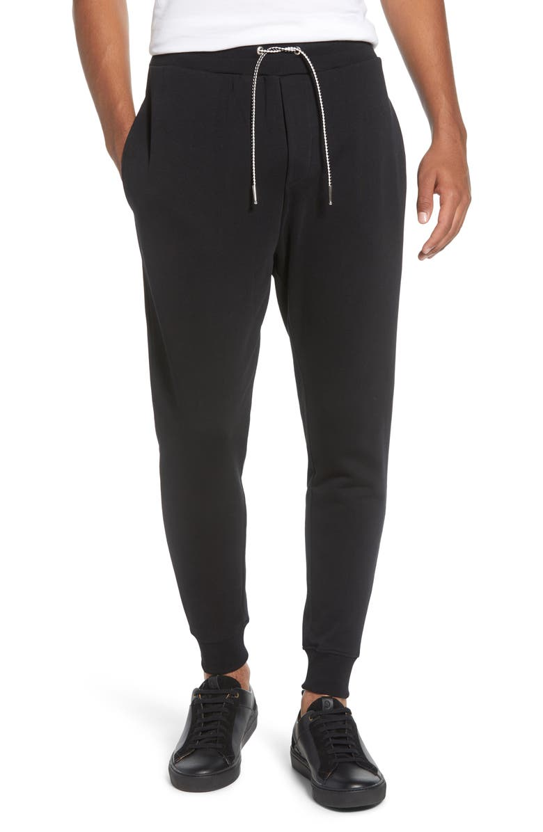 THE KOOPLES Regular Fit Sweatpants, Main, color, BLACK
