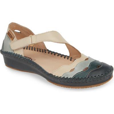 Pikolinos Puerto Vallarta Asymmetrical Sandal, Blue