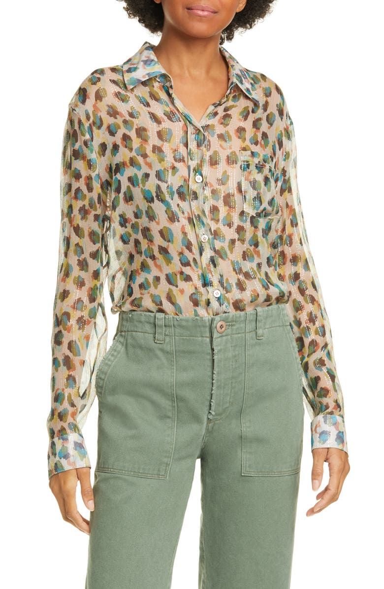 LE SUPERBE Future Ex Boyfriend Leopard Print Shirt, Main, color, 240
