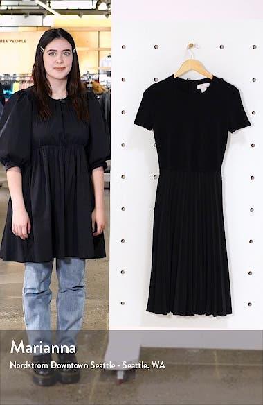 Pleated Mixed Media Dress, sales video thumbnail