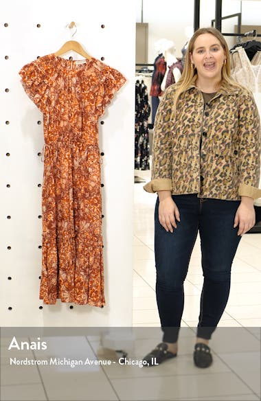Arlene Ruffle Tiered Midi Dress, sales video thumbnail