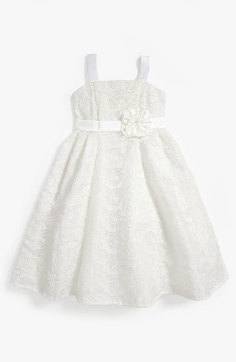 ISOBELLA & CHLOE Lace Dress, Main, color, 101
