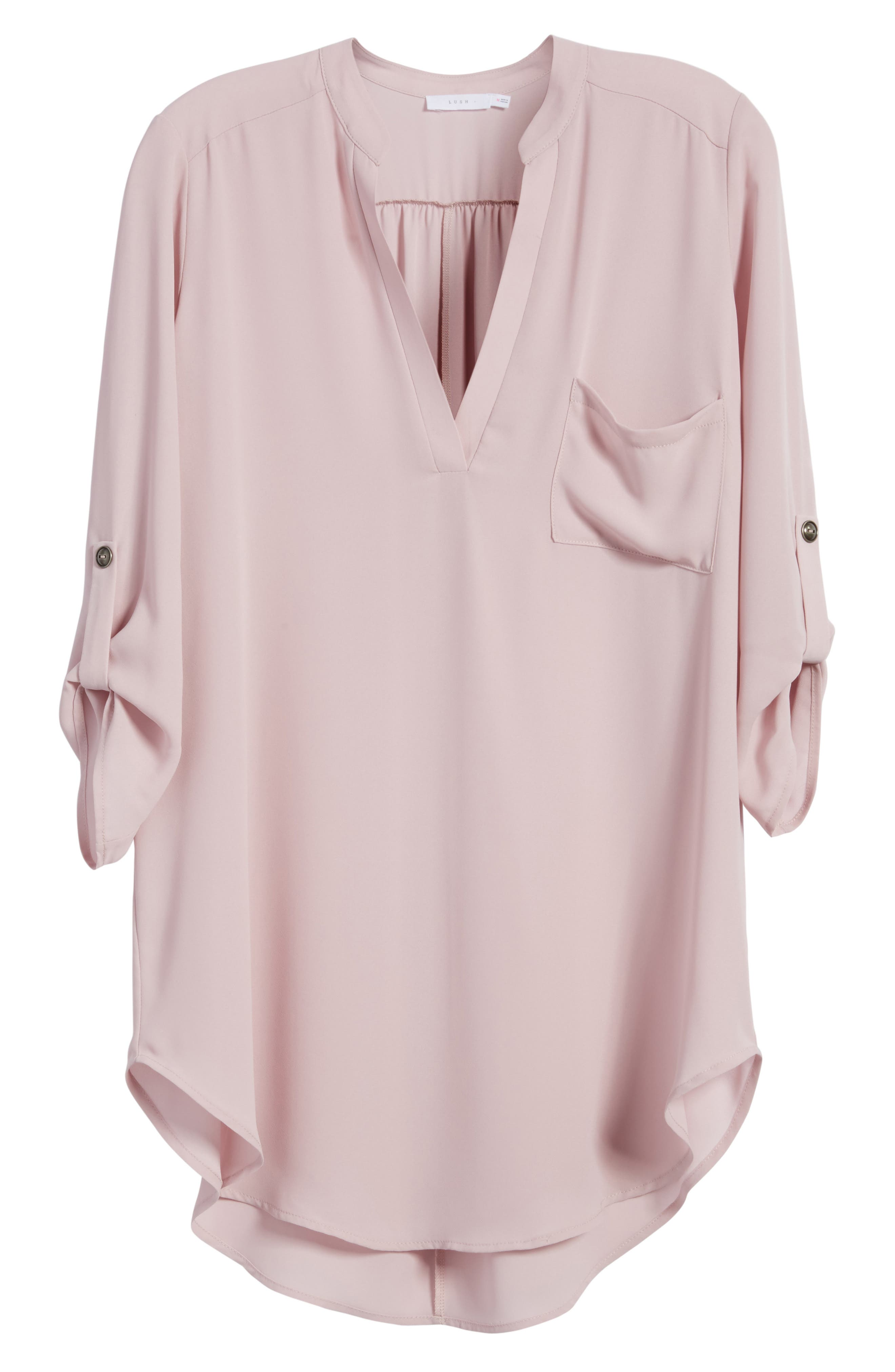 ,                             Perfect Roll Tab Sleeve Tunic,                             Alternate thumbnail 329, color,                             530