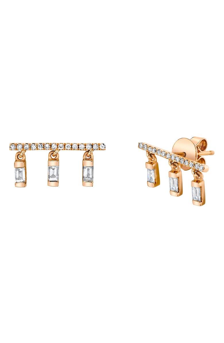 SHAY Chime Stud Earrings, Main, color, DIAMOND