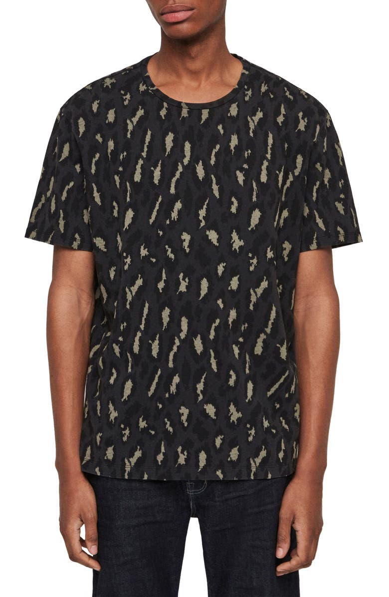 ALLSAINTS Catamount Slim Fit Print T-Shirt, Main, color, 004