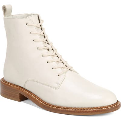 Vince Cabria Lace-Up Boot, White