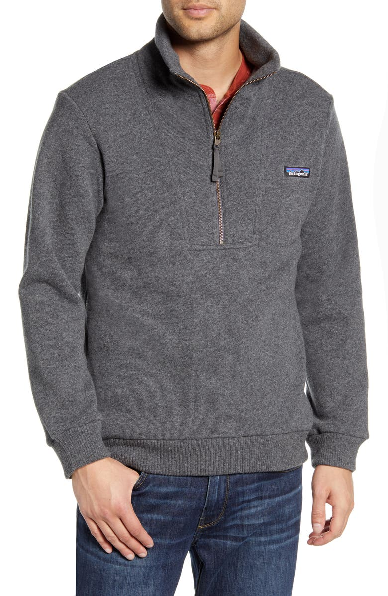 PATAGONIA Woolie Fleece Pullover, Main, color, FORGE GREY