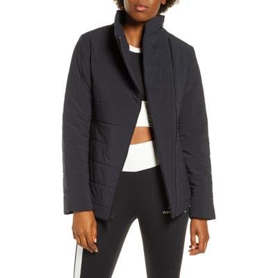 New Balance Heat Flex Asymmetrical Zip Jacket, Black