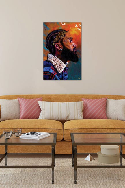 Image of iCanvas Nipsey Hussle by Crixtover Edwin Wall Art