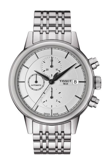 Image of Tissot Men's Carson Automatic Chronograph Bracelet Watch, 42.3mm