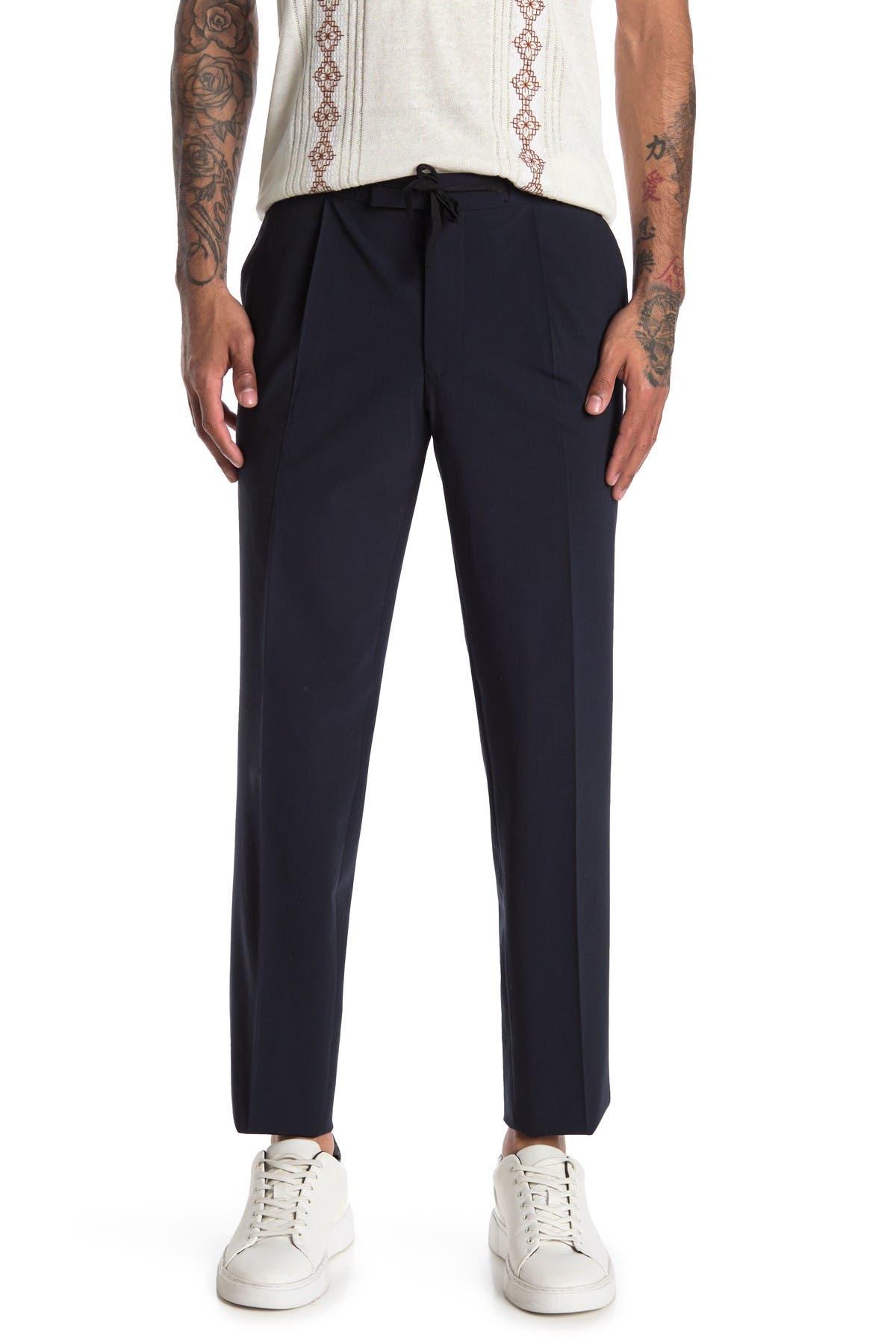 Image of REISS Baton Plain Weave Slim Dress Pants