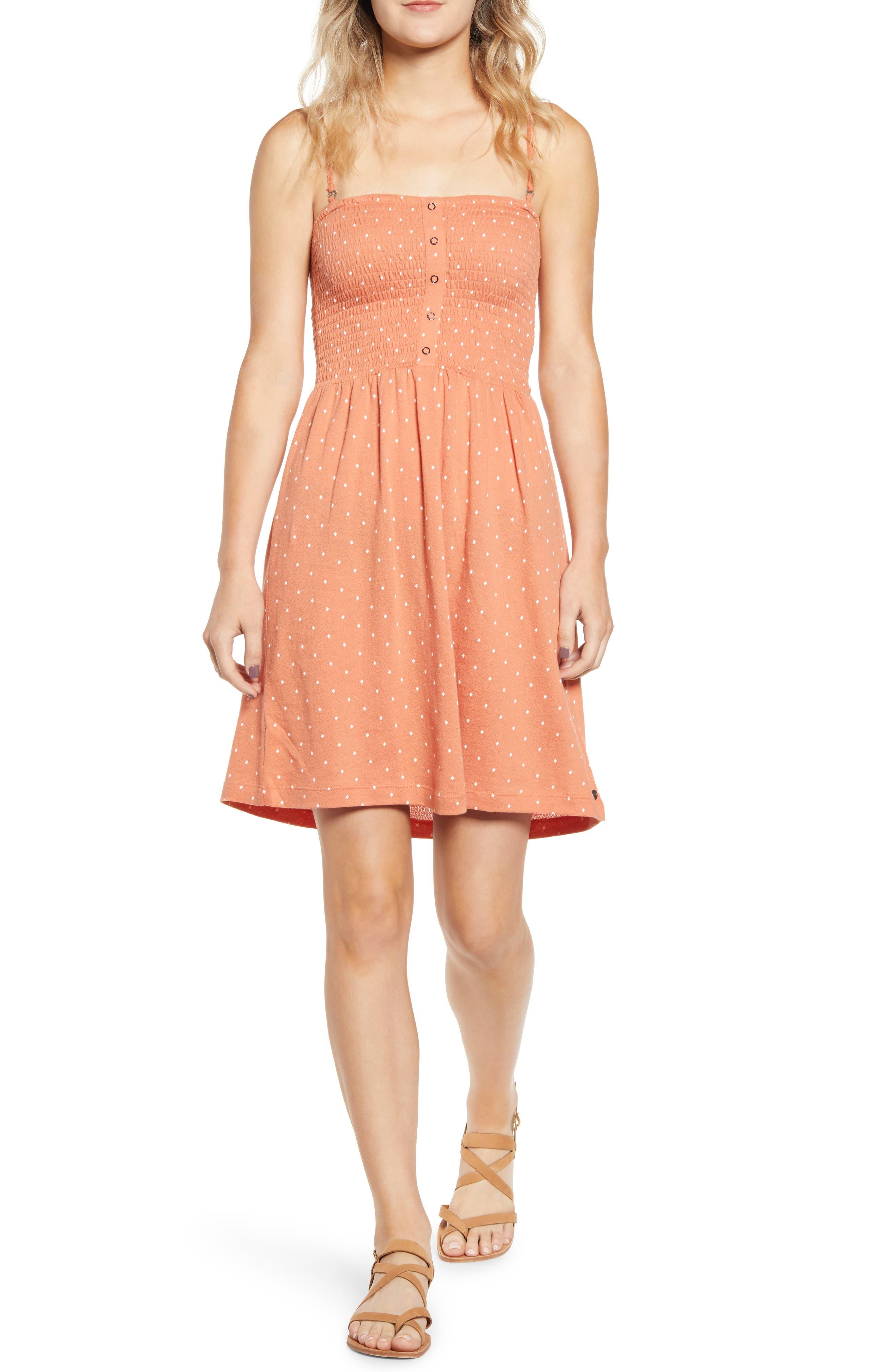 Roxy Summerland Party Sundress, Orange