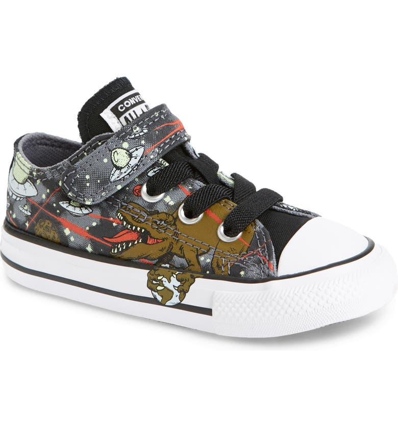 CONVERSE Chuck Taylor<sup>®</sup> All Star<sup>®</sup> 1V Dinoverse Low Top Sneaker, Main, color, COOL GREY/ OLIVE FLAK/ BLACK