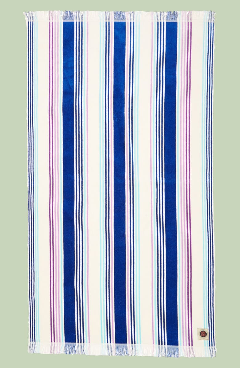 Ruby Mint Cabana Cotton Terry Velour Beach Towel Nordstrom