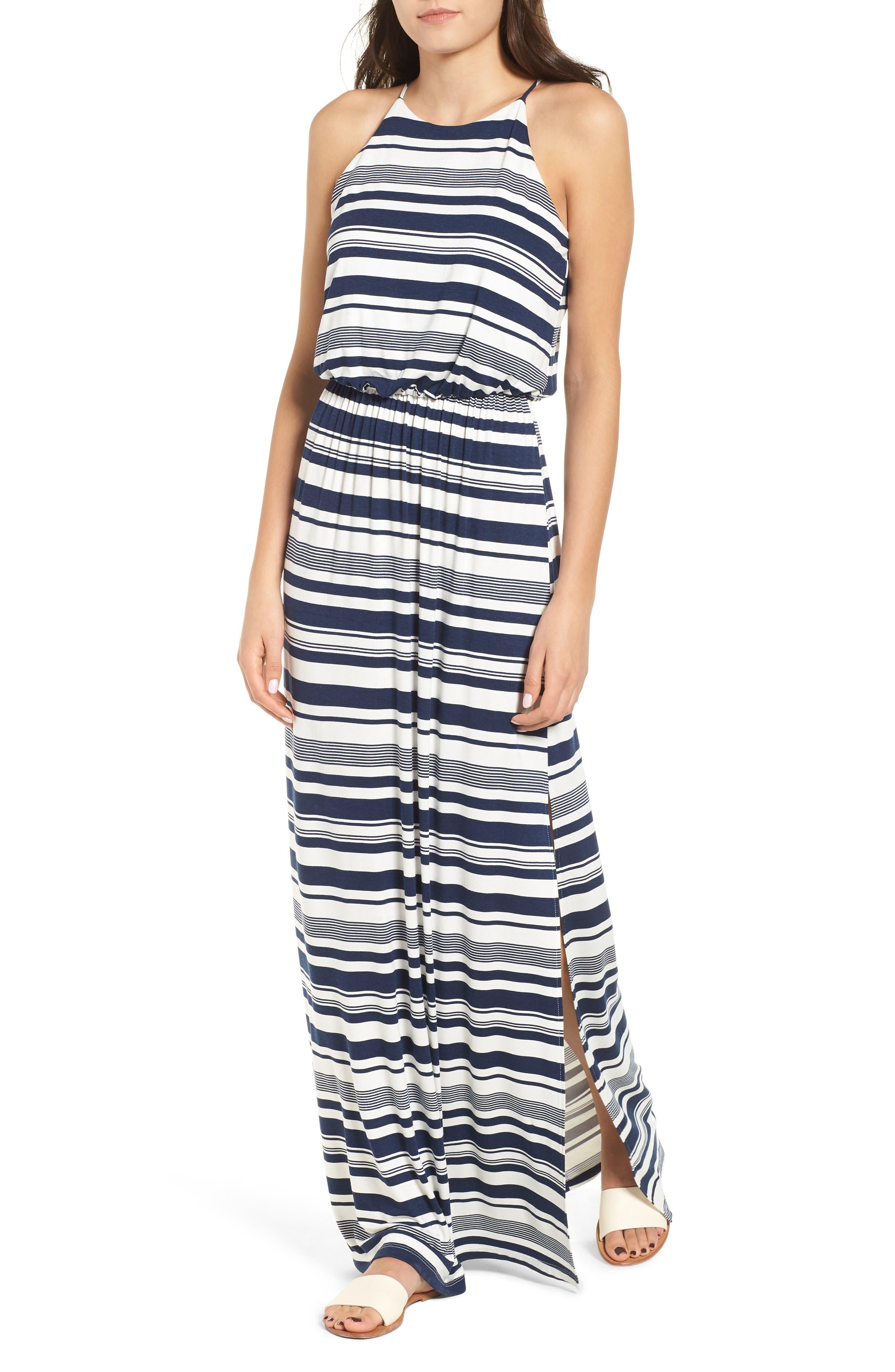 ,                             High Neck Maxi Dress,                             Main thumbnail 16, color,                             403