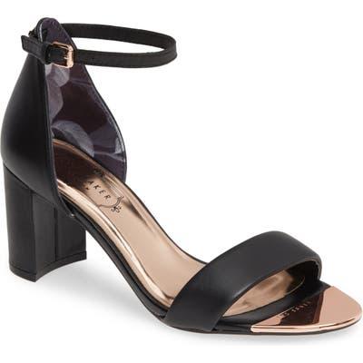 Ted Baker London Shea Ankle Strap Sandal - Black