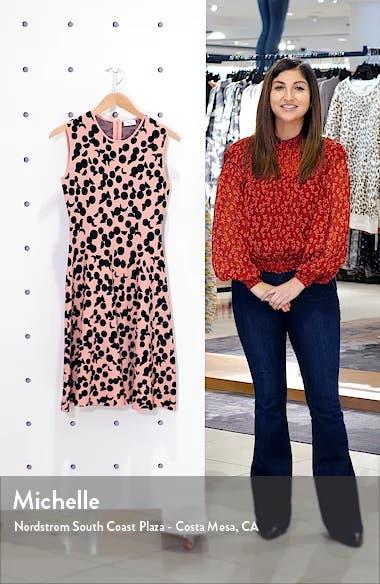 Luna Dot Jacquard Fit & Flare Dress, sales video thumbnail