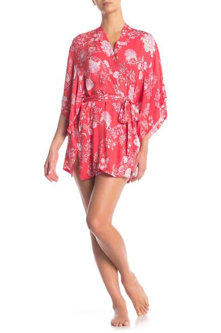 Image of Josie Printed 3/4 Length Sleeve Robe