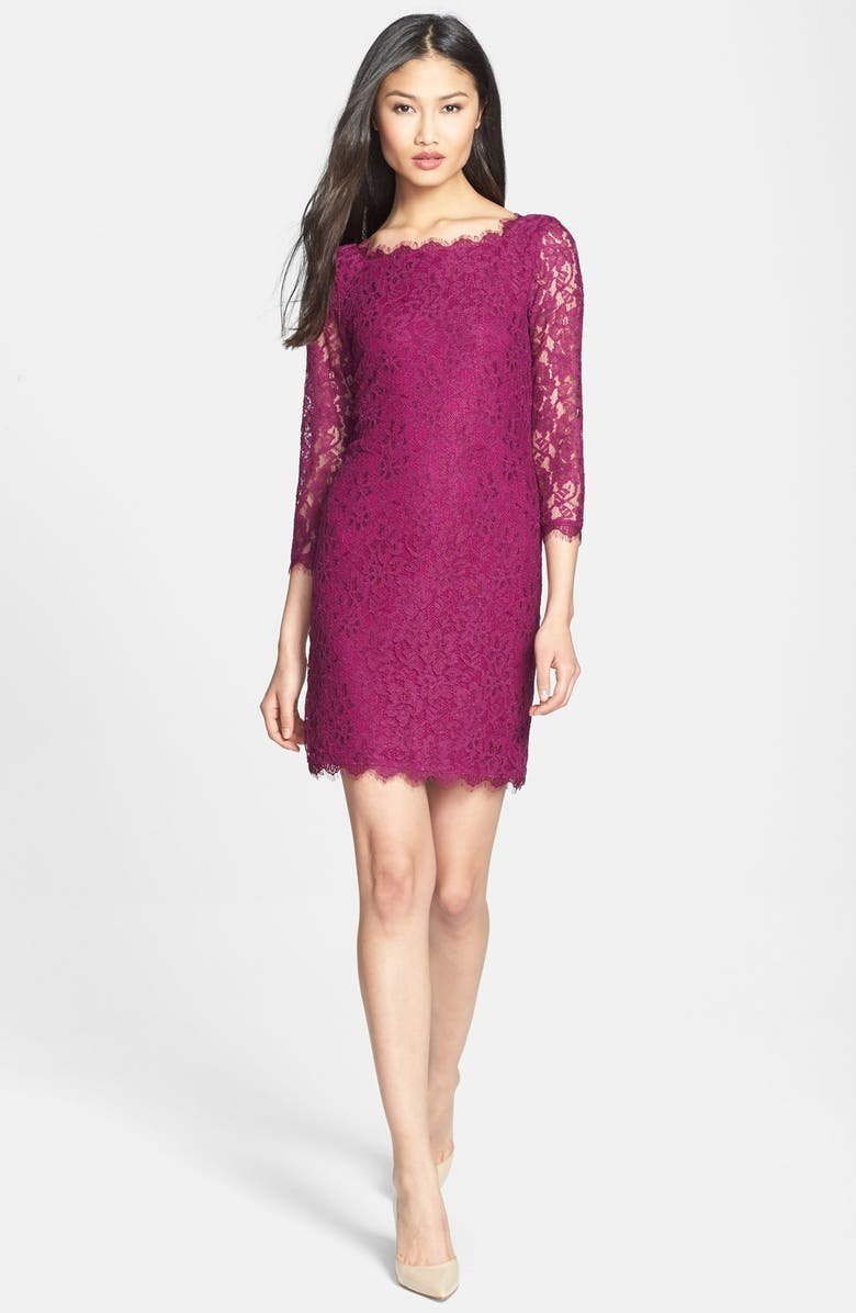 DIANE VON FURSTENBERG 'Zarita' Lace Sheath Dress, Main, color, 573