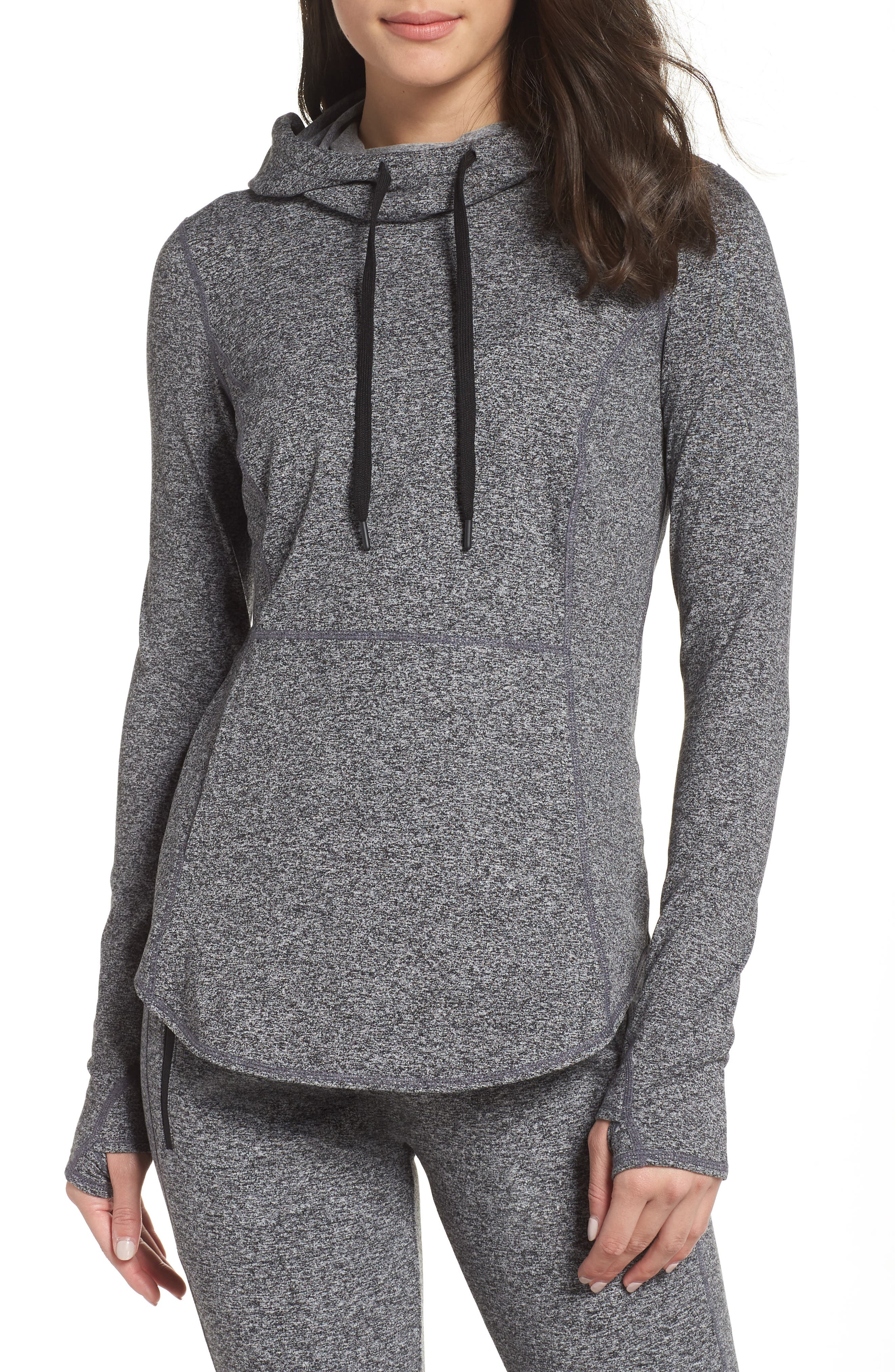 Taryn Ultrasoft Recycled Pullover Hoodie, Main, color, 001