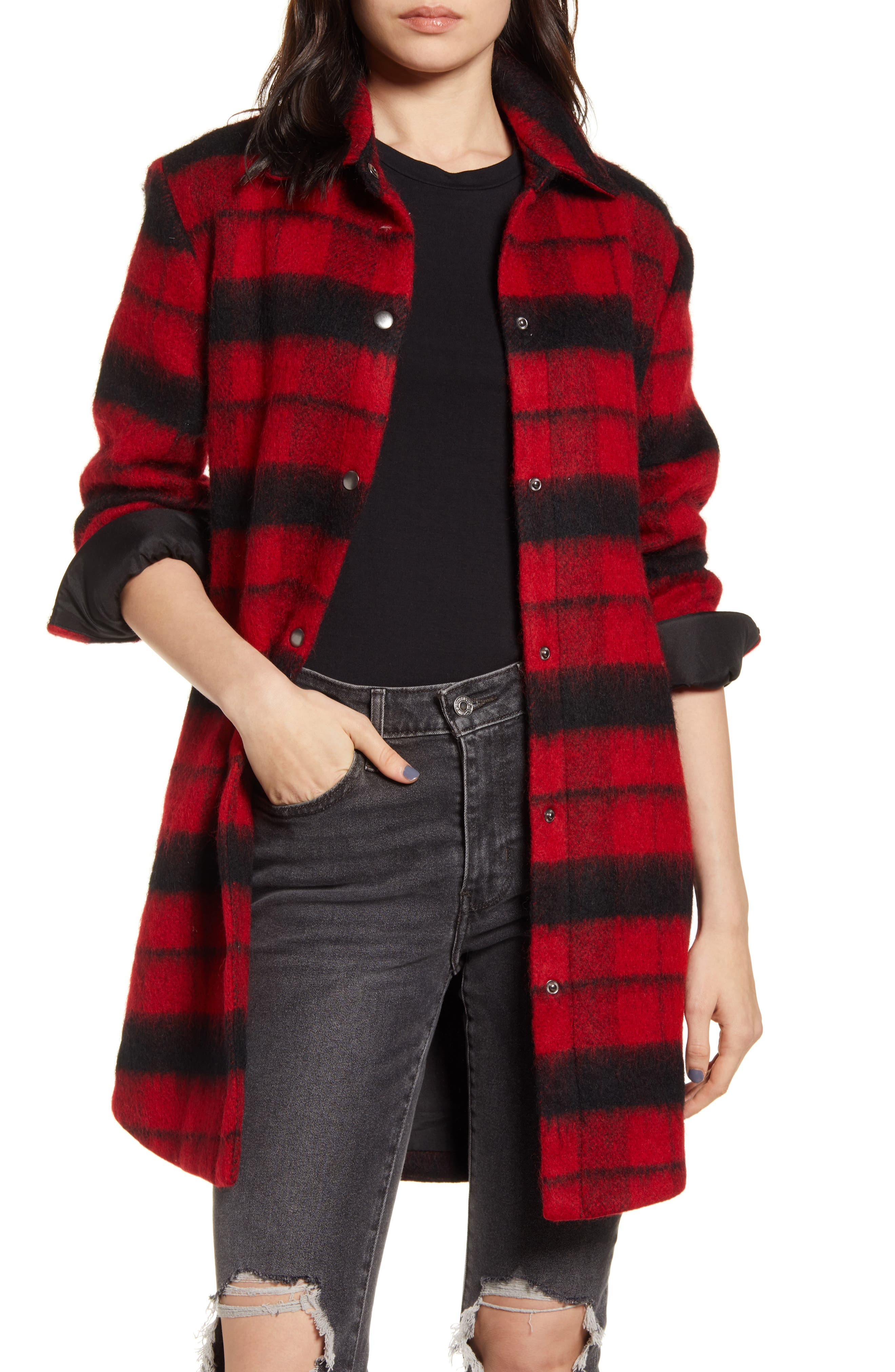BB Dakota Wild & Woolly Plaid Coat