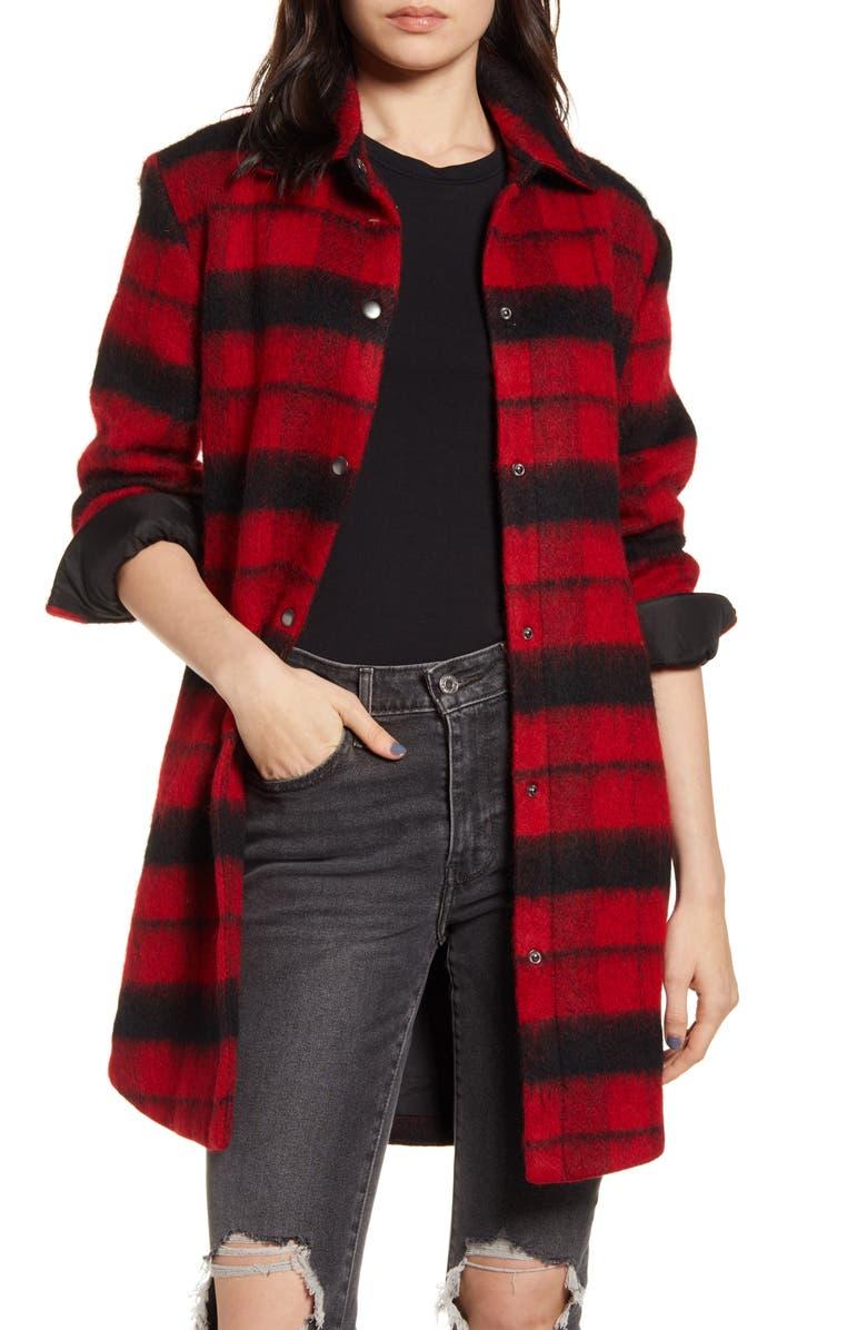 BB DAKOTA Wild & Woolly Plaid Coat, Main, color, 620