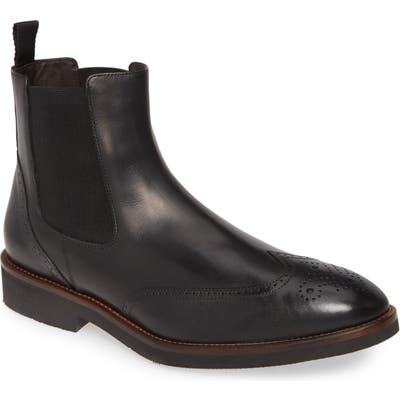 Johnston & Murphy Ridgeland Wingtip Chelsea Boot- Black