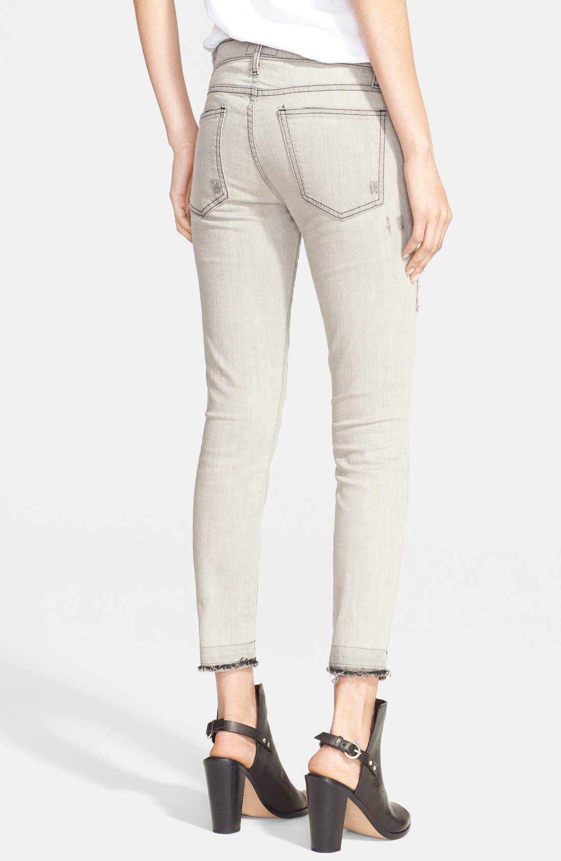 ,                             'The Stiletto' Destroyed Skinny Jeans,                             Alternate thumbnail 17, color,                             466