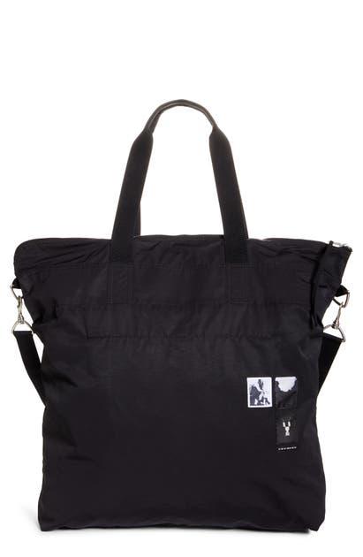 Rick Owens Drkshdw Patch Beach Bag - Black