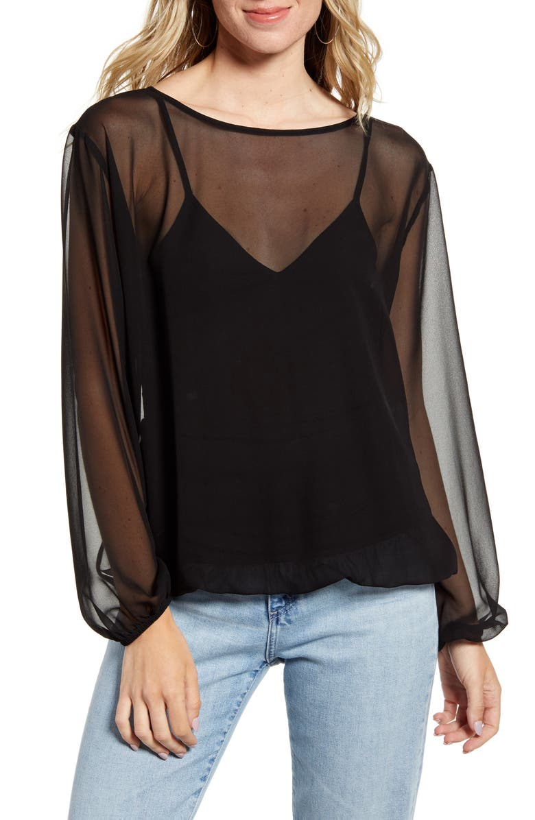 BAILEY 44 Luz Blouse, Main, color, BLACK