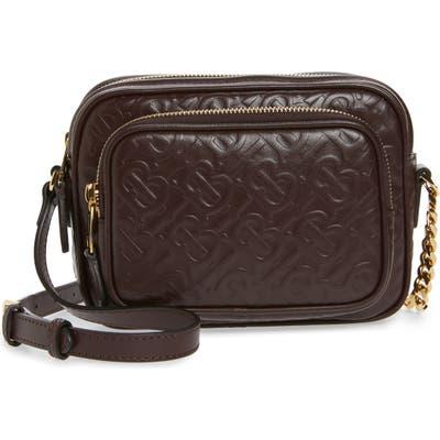 Burberry Small Tb Monogram Leather Camera Bag - Burgundy