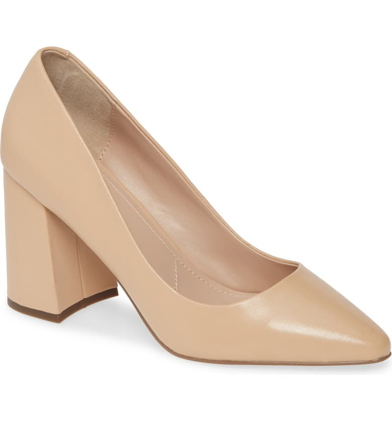 CHARLES BY CHARLES DAVID Verse Pump, Main, color, NUDE LEATHER