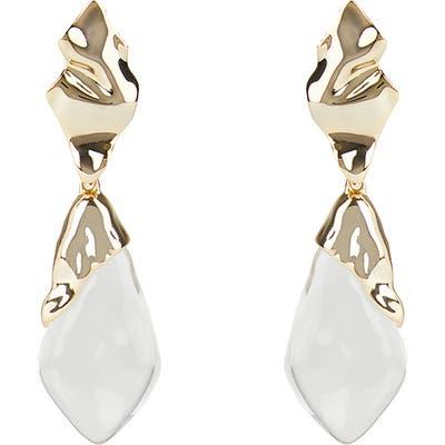 Alexis Bittar Crumpled Metal Drop Clip Earrings